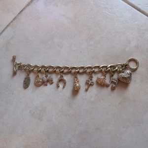 Juicy Couture Gold Charm Bracelet Bundle